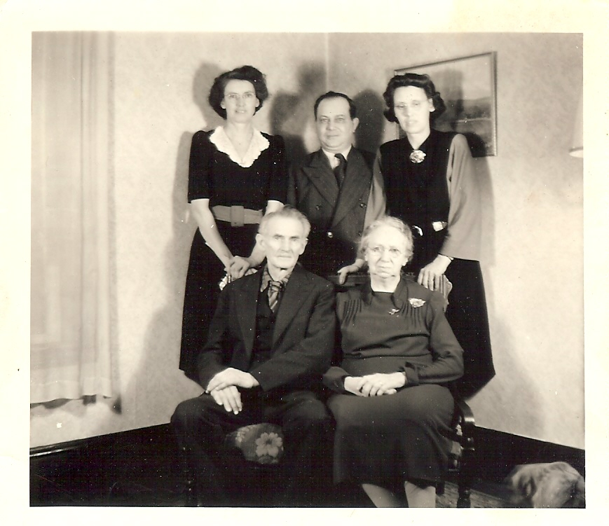 Edsil and Cora Stalker, Mildred Dyer, Harold and Elsie Frost